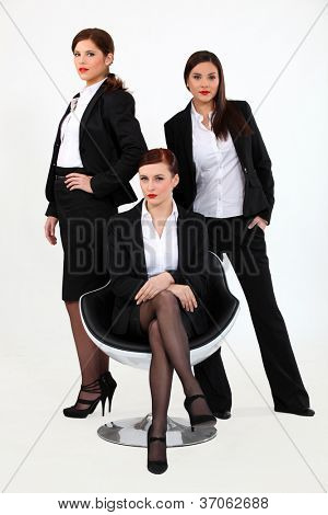 A team of businesswomen