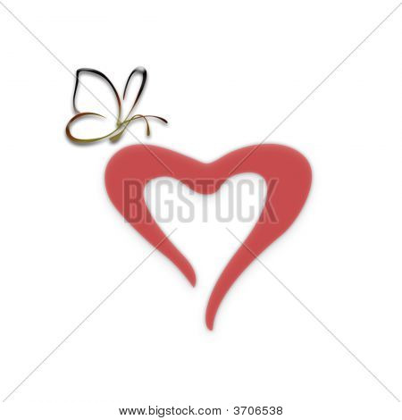 Heart With The Butterfly