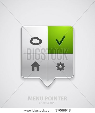 Modern menu pointer. Vector eps10 illustration