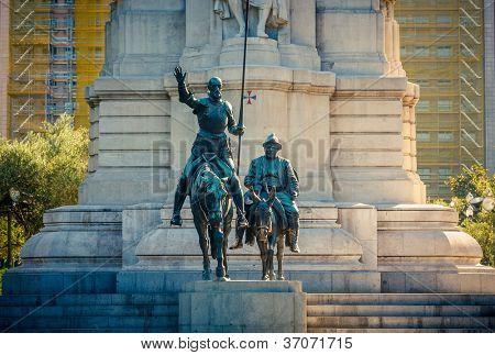 Miguel de Cervantes monument, Plaza de Espana, Madrid