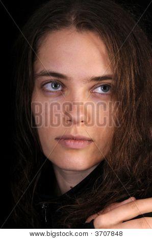 Beautiful Russian Woman In Closeup