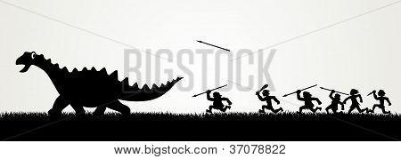 Jagd-Dinosaurier