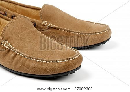 Details Of Chamois Leather Men's Shoes
