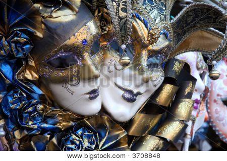 venezianischen Masken