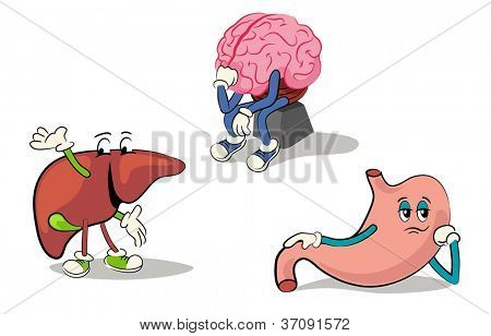 illustrated character set of human internal organs 2