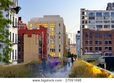 The High Line in New York City.