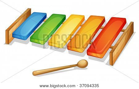 illustration of xylophone on a white background