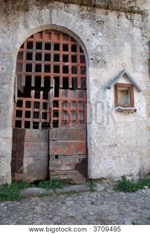 Broken Door In Barisano Sassi