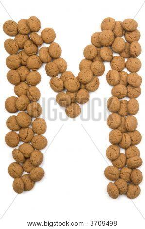 Ginger Nut Alphabet M