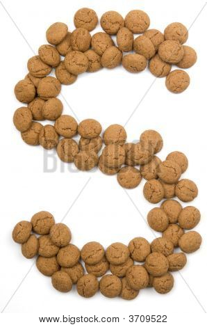 Ginger Nut Alphabet S