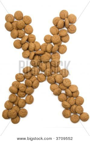 Ginger Nut Alphabet X