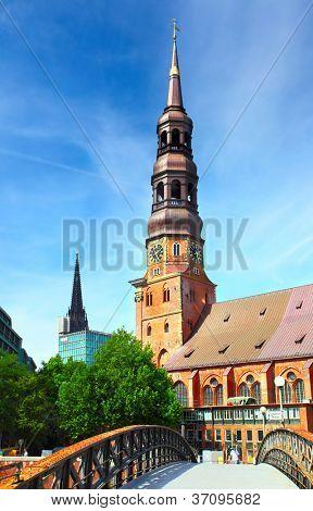 Hamburg. Church of St. Catherine, Germany
