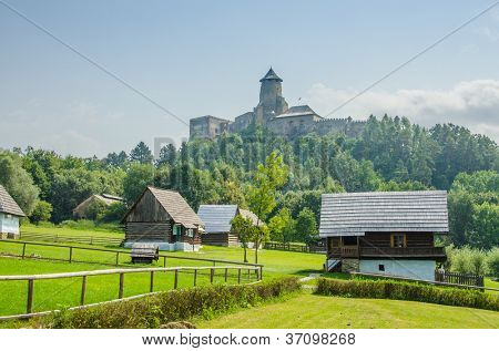Stara Lubovna Castle and an open air folk museum, Slovakia