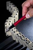 Stop the domino effect concept for solution to a problem