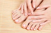 pic of fingers legs  - care for beautiful woman legs - JPG