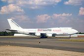 JOHANNESBURG - APRIL 18:Boeing 747 Kenya Airways preparing for take off on April 18, 2012 in Johanne
