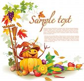 Template on a theme on the autumn harvest