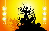 image of subho bijoya  - illustration of goddess Durga in Subho Bijoya background - JPG