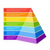 stock photo of hierarchy  - Pyramid chart - JPG