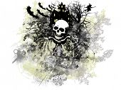 Grunge and distressed Halloween background