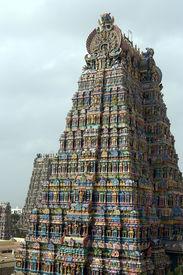 picture of meenakshi  - Meenakshi Temple in Madurai - JPG