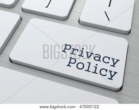 Concepto de política de privacidad.