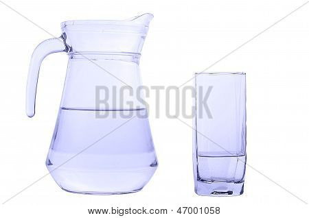 Carafe and glass with water
