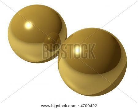 Rendered Image Of Brass Balls