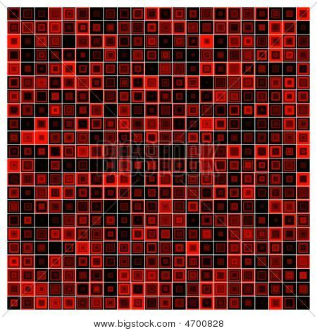Multiple Red And Black Squares