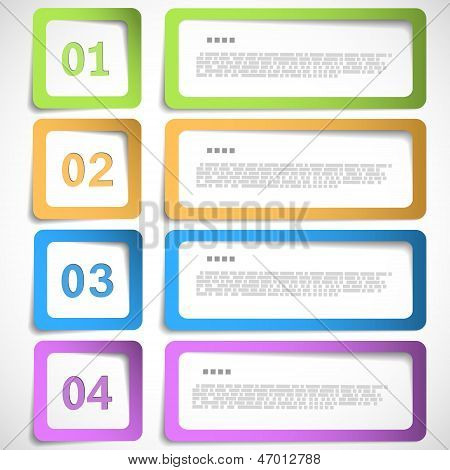 1-2-3-4 Option - Paper Frames Template