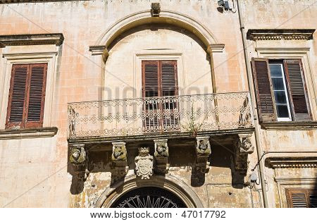 De Rinaldis Palace. Lecce. Puglia. Italy.