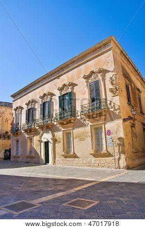 Palmieri Palace. Lecce. Puglia. Italy.