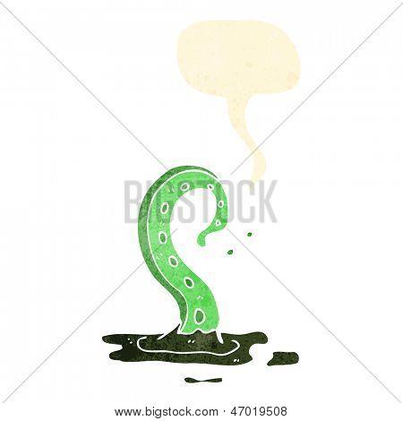 retro cartoon spooky tentacle