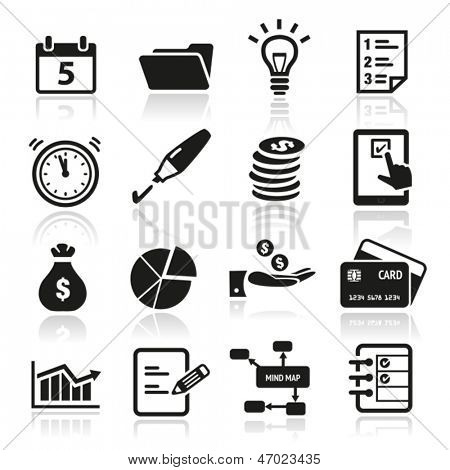 Collection of productivity and time management icons