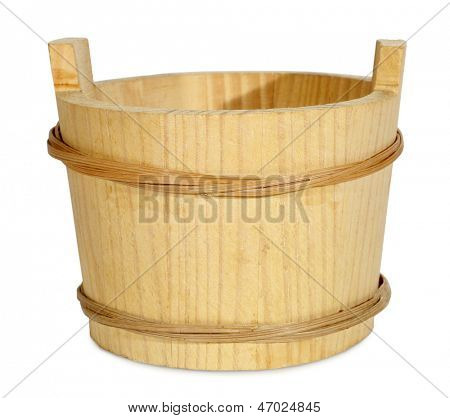 IVA de mantequilla cubo de madera