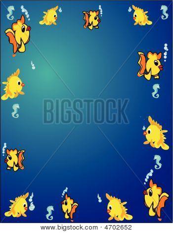 Fish Border Background