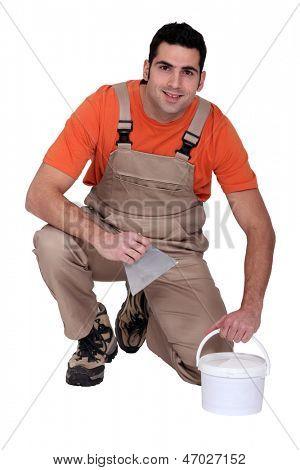 Retrato de um colocador de azulejo