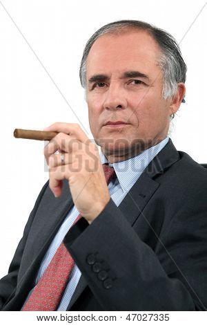 Executive with a cigar