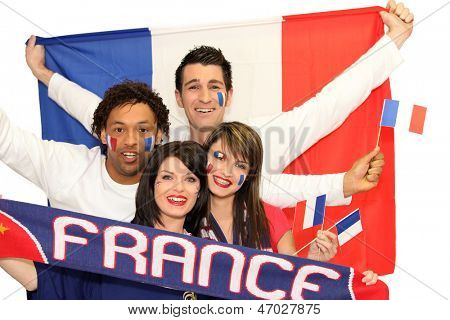 Happy French football supporters