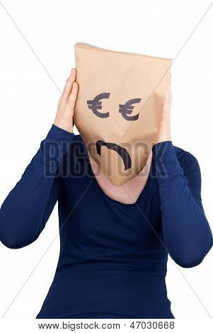 A Desperate Euro Paper Bag