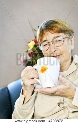 Elderly Woman Relaxing