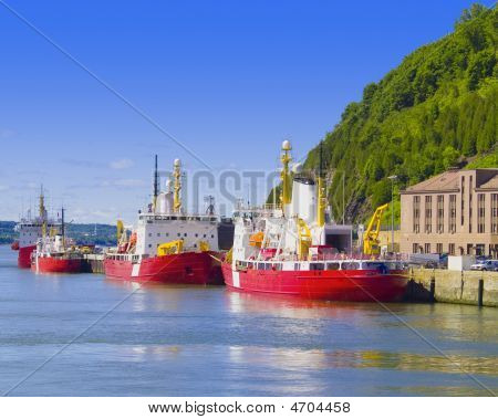 Cargo Boats On St Copy