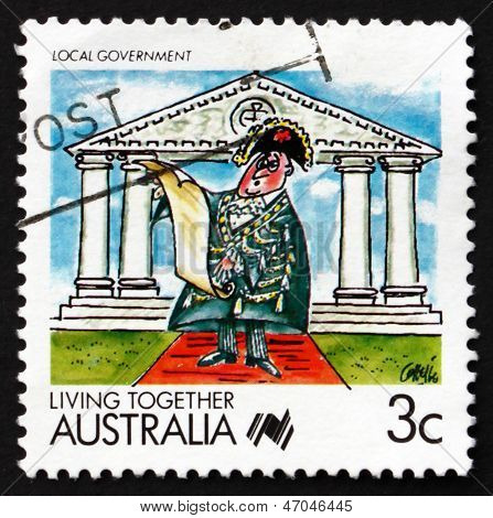 Postage Stamp Australia 1988 Local Government, Living Together