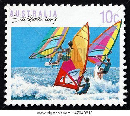 Postage Stamp Australia 1992 Windsurfing, Sailboarding, Australi
