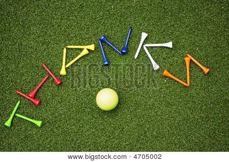 Golf Tee Thanks