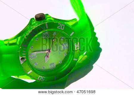 Green Wrist Watch