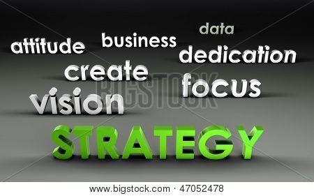 Strategie in de voorhoede in 3d presentatie