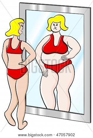 Dicke und dünne Frau