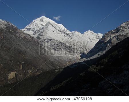 Snow capped mountain in the Everest Region
