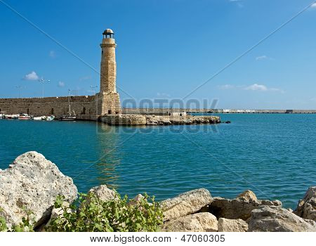 Old lighthouse. Rethymno.
